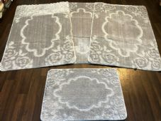 ROMANY GYPSY WASHABLE MATS FULL SETS OF 4 MATS-RUGS X LARGE 100X140CM NEW SILVER